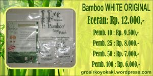 Grosir Koyo Kaki Murah, Bamboo Foot Patch Surabaya, Harga Bamboo White Original, 0856.4578.4363, http://grosirkoyokaki.wordpress.com